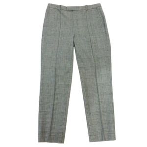 J.Crew Grey Plaid Trouser Pants